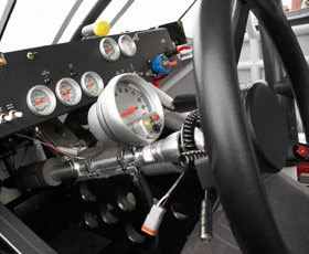 Stock Car Dashboard - Talladega Helicopter Shuttle